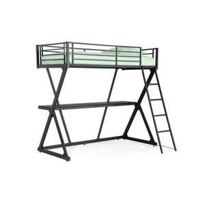 bureau pour mezzanine achat vente bureau pour mezzanine pas cher cdiscount. Black Bedroom Furniture Sets. Home Design Ideas