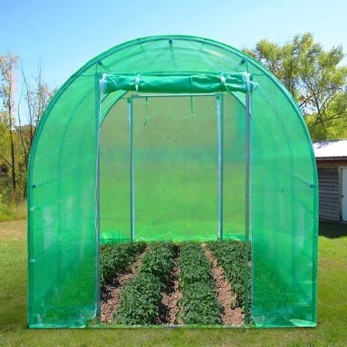 6m serre de jardin tente tunnel 4 arceaux cadre en acier for Arceaux pour tunnel de jardin