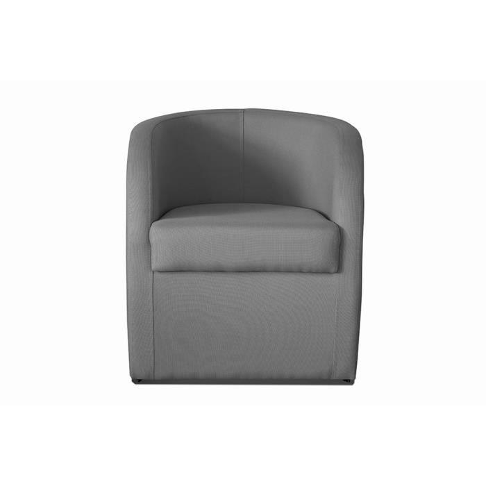 Fauteuil cabriolet gris clair en tissu avec coffre en option daphne 5 avec co - Fauteuil cabriolet avec pouf ...