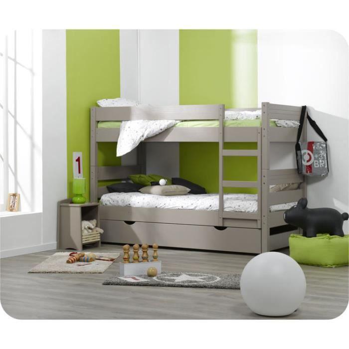 lit superpos enfant 1 2 3 couleur lin achat vente. Black Bedroom Furniture Sets. Home Design Ideas