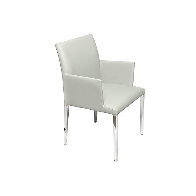 Fauteuil moderne acier chrom gris mor al achat vente fauteuil cdiscount - Fauteuil moderne design ...