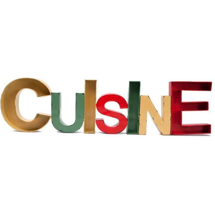 mot d co cuisine en fer color 97x4x25cm achat vente