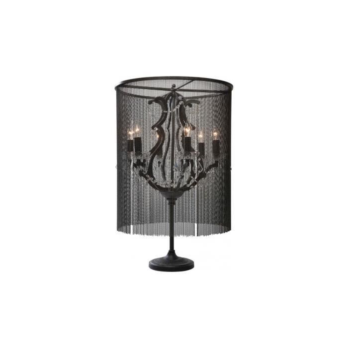 lampe de table chandelier chain 53cm kare design achat vente lampe de table chandelier. Black Bedroom Furniture Sets. Home Design Ideas