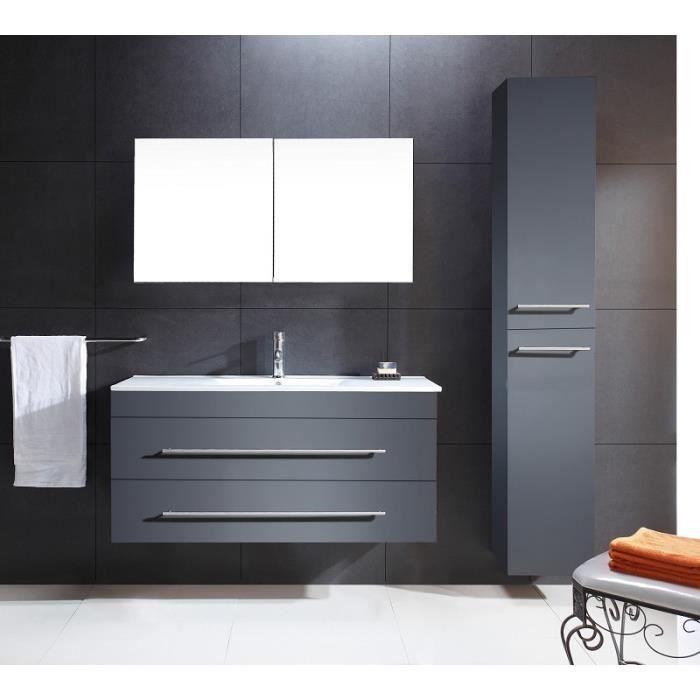 l 39 ensemble super conomique versus anthracite a achat vente salle de bain complete l. Black Bedroom Furniture Sets. Home Design Ideas