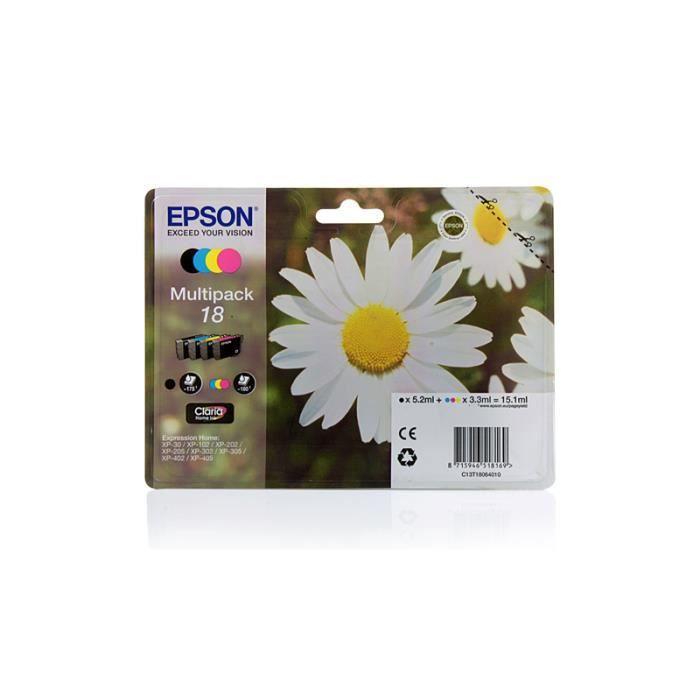 epson expression home xp 402 original epson c13t18064010 18 cartouche d 39 encre c m y k 4. Black Bedroom Furniture Sets. Home Design Ideas