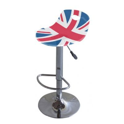 chaise de bar drapeau anglais achat vente tabouret de bar acrylique m tal cdiscount. Black Bedroom Furniture Sets. Home Design Ideas