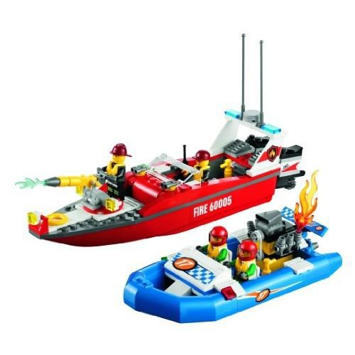 assemblage construction le bateau des pompiers lego city 60005