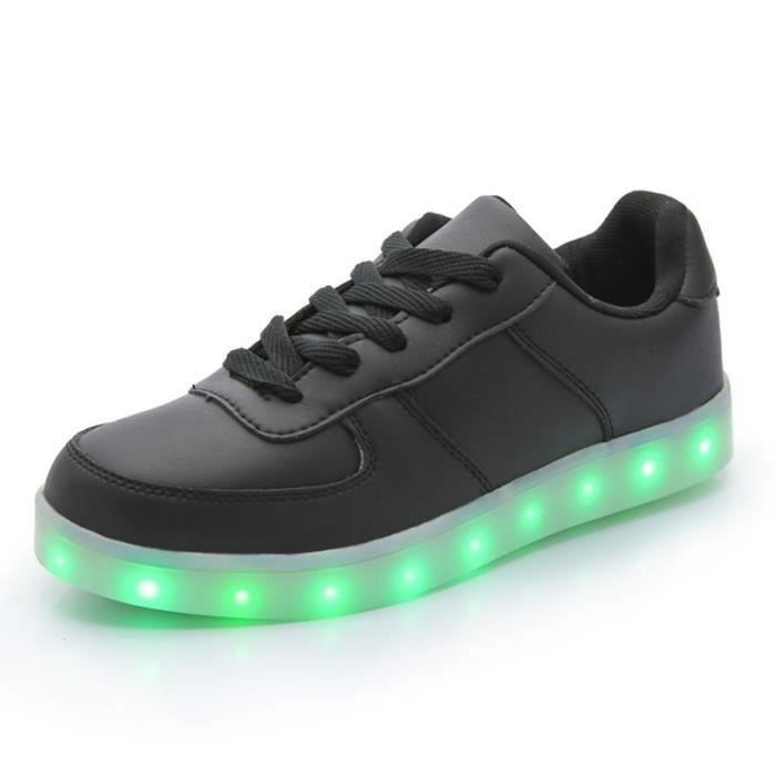 dansebriller 7 couleur unisexe usb charge led chaussure lumineuse lumineux clignotants. Black Bedroom Furniture Sets. Home Design Ideas