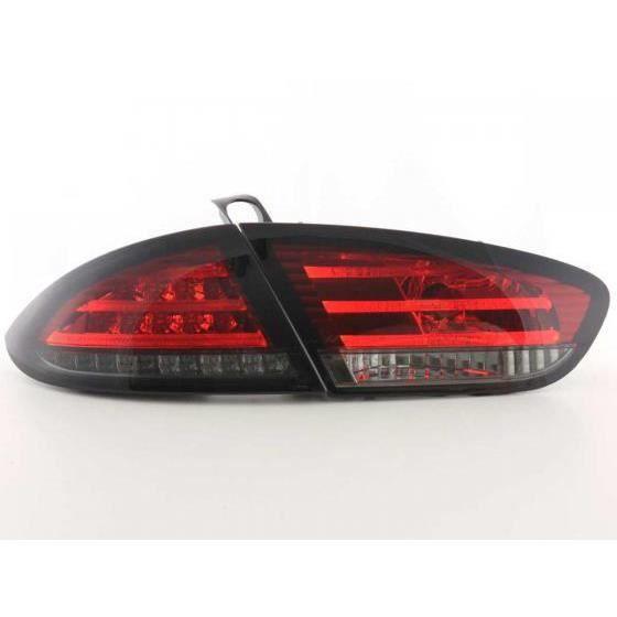 led feux arri res pour seat leon type 1p ann e 09 rouge noir ann e 2009 couleur rouge. Black Bedroom Furniture Sets. Home Design Ideas