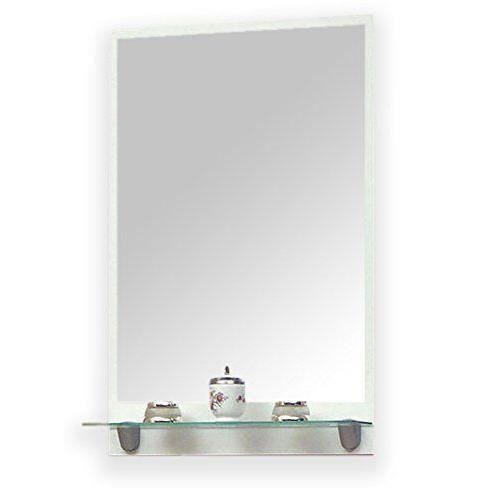 Meuble de salle de bain sorjen avec tag re en verre Etagere salle de bain en verre