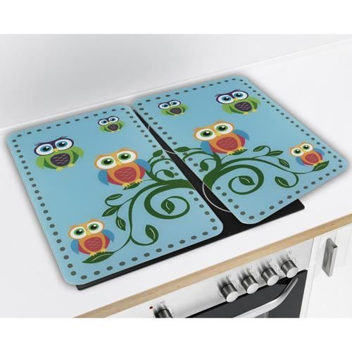 2 couvre plaques universel chouettes achat vente cache plaque de cuisine 2 couvre plaques. Black Bedroom Furniture Sets. Home Design Ideas