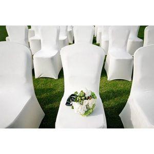 housse de chaise mariage achat vente housse de chaise mariage pas cher cdiscount. Black Bedroom Furniture Sets. Home Design Ideas