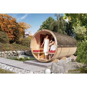 KIT SAUNA  Sauna Chalet Extérieur 42 mm Tonneau 8.2 m3 Avec B