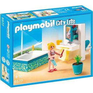 univers miniature playmobil 5577 salle de bains avec baignoire - Maison Moderne Playmobil