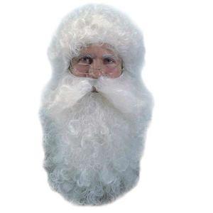 MASQUE - DÉCOR VISAGE Perruque et Barbe de Père noël couleur naturelle