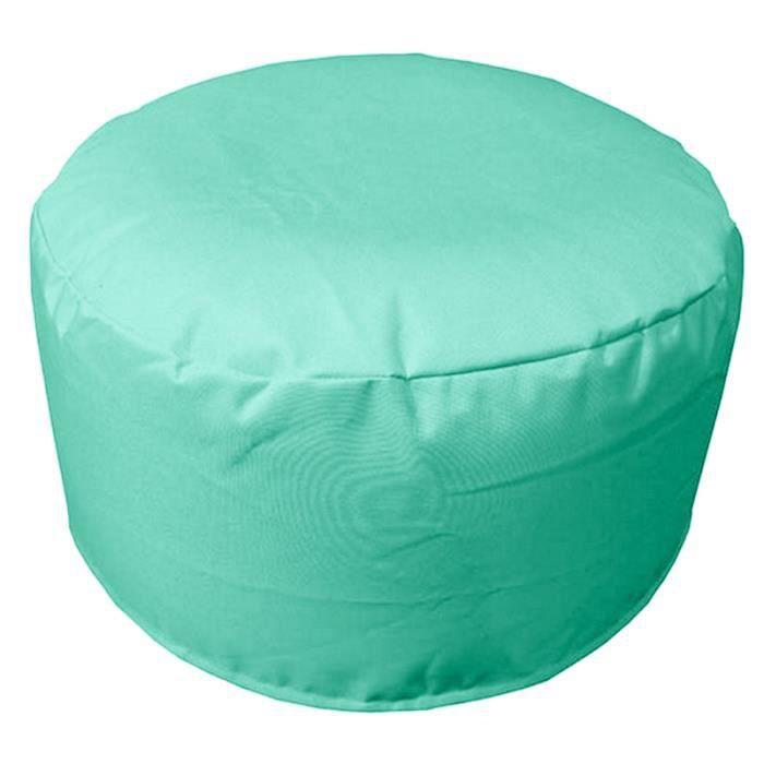 pouf gonflable 55cm sp cial ext rieur turquoise anti taches imperm able achat vente. Black Bedroom Furniture Sets. Home Design Ideas