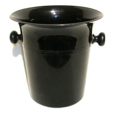 seau champagne plastique noir brillant achat vente seau rafraichisseur seau. Black Bedroom Furniture Sets. Home Design Ideas