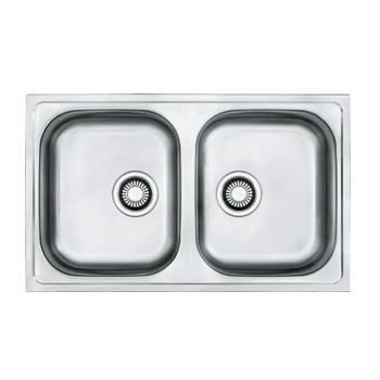 Eviers double cuves eviers sans egouttoir inox achat for Evier double inox