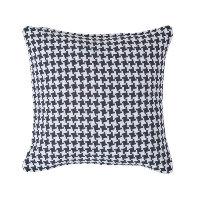 Coussin d houssable motif chevron noir 45 x 45 cm achat - Housse de coussin 45 x 45 ...
