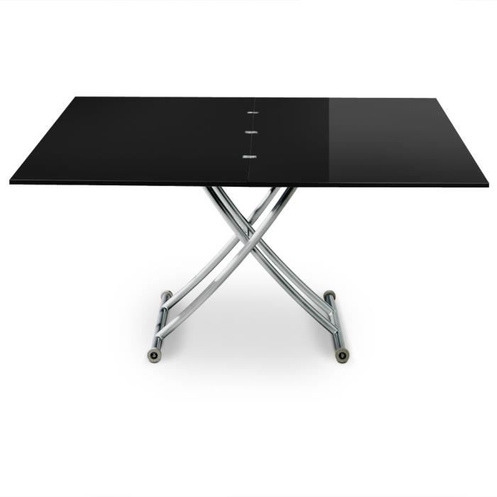 Table basse relevable carrera xl noir laqu achat - Menzzo table basse ...