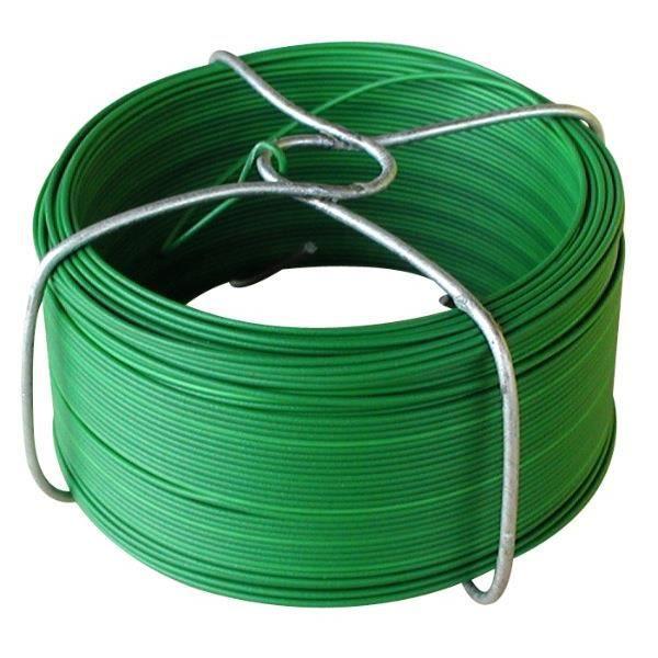 Fil de fer plastifié vert
