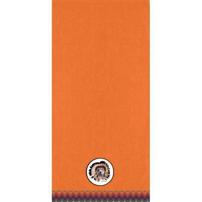 serviette de toilette teo apache orange couleur orange achat vente serviettes de bain. Black Bedroom Furniture Sets. Home Design Ideas