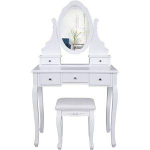 coiffeuse en bois avec miroir achat vente coiffeuse en. Black Bedroom Furniture Sets. Home Design Ideas