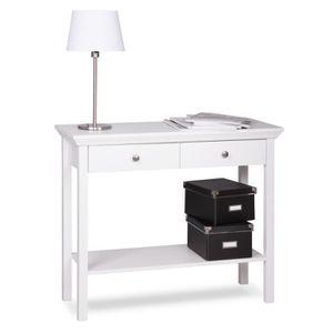 Meuble console blanc avec tiroir achat vente meuble - Console avec tiroir meuble entree ...