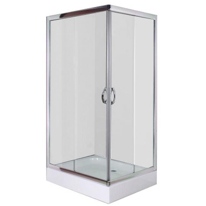 Magnifique cabine douche carree 100 x 80 cm achat vente cabine de douche - Cdiscount cabine de douche ...