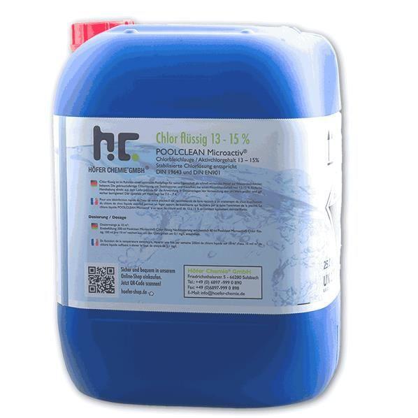 Chlore liquide 48 1 x 25 kg 20 l achat vente for Bromure de sodium piscine