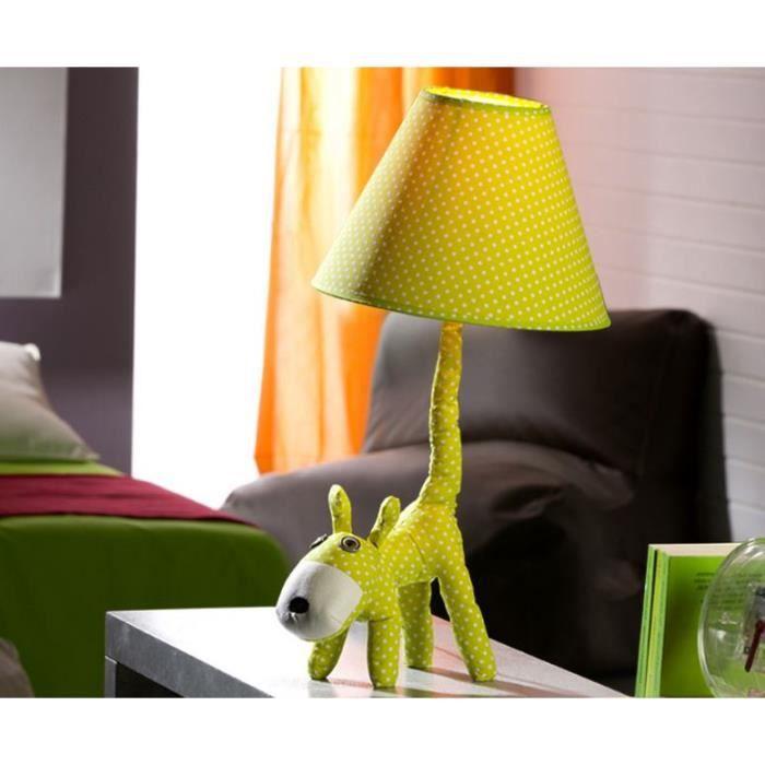 lampe chambre d 39 enfant chien vert pomme achat vente lampe chambre d 39 enfant chie cdiscount. Black Bedroom Furniture Sets. Home Design Ideas