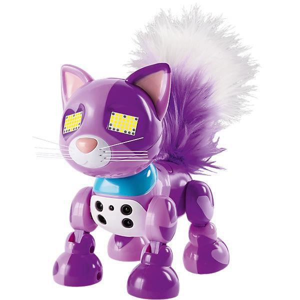 zoomer robot chat meowzy violet achat vente animal virtuel cdiscount. Black Bedroom Furniture Sets. Home Design Ideas