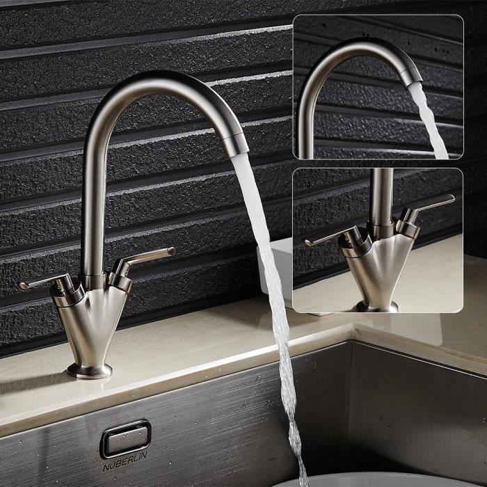 Auralum robinet de finition bross e pour cuisine mitigeur for Fuite mitigeur cuisine