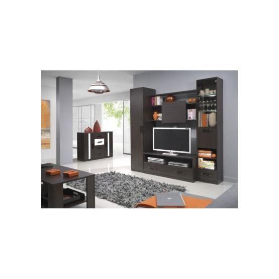Meuble tv design mural osvaldo wenge achat vente meuble tv meuble tv desi - Meuble tv design wenge ...