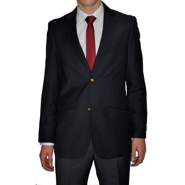 blazer homme sublissimo bleu mar bleu achat vente costume tailleur les soldes sur. Black Bedroom Furniture Sets. Home Design Ideas