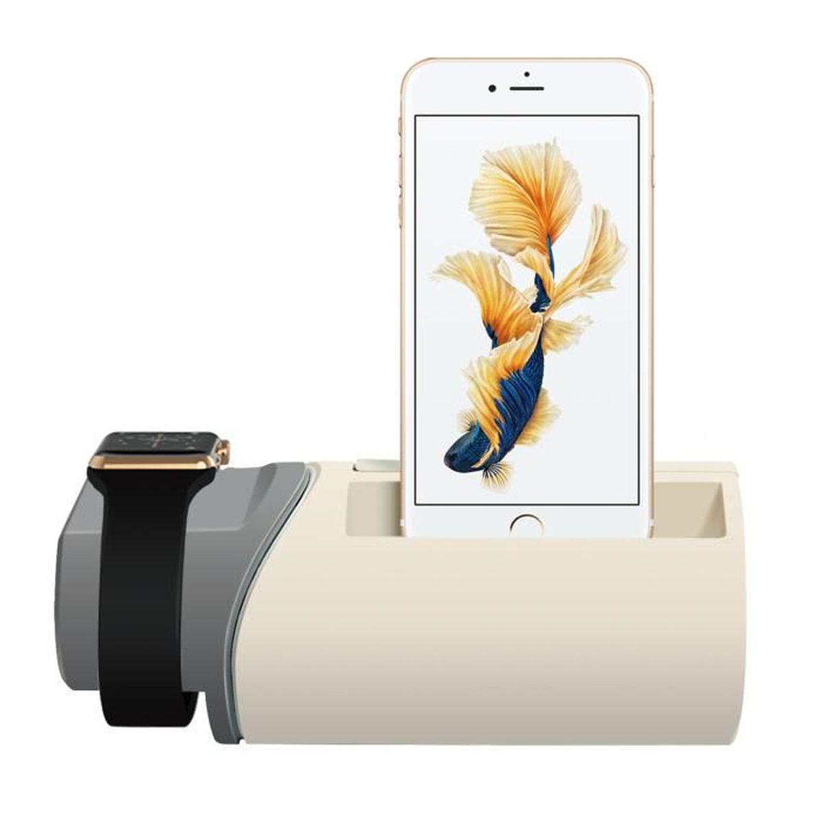 upow 2 en 1 station de recharge pour apple watch iphone. Black Bedroom Furniture Sets. Home Design Ideas