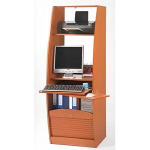 armoire informatique galb e 60 cm d cor h tre achat vente armoire de bureau armoire. Black Bedroom Furniture Sets. Home Design Ideas
