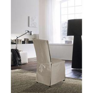 housse de chaise lin achat vente housse de chaise lin pas cher cdiscount. Black Bedroom Furniture Sets. Home Design Ideas