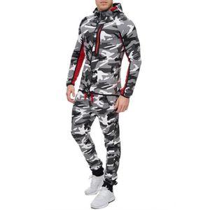 SURVÊTEMENT DE SPORT Ensemble jogging camouflage bi ton gris