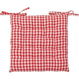 Coussin de chaise rouge achat vente coussin de chaise - Coussin rouge pas cher ...