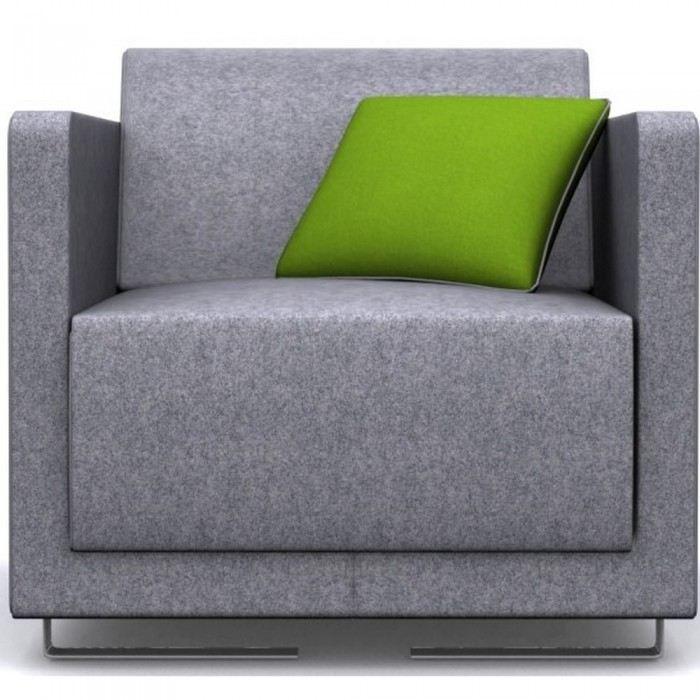 Fauteuil tissu bicolore palerm mati re tissu co achat vente fauteuil tis - Customiser un fauteuil en tissu ...