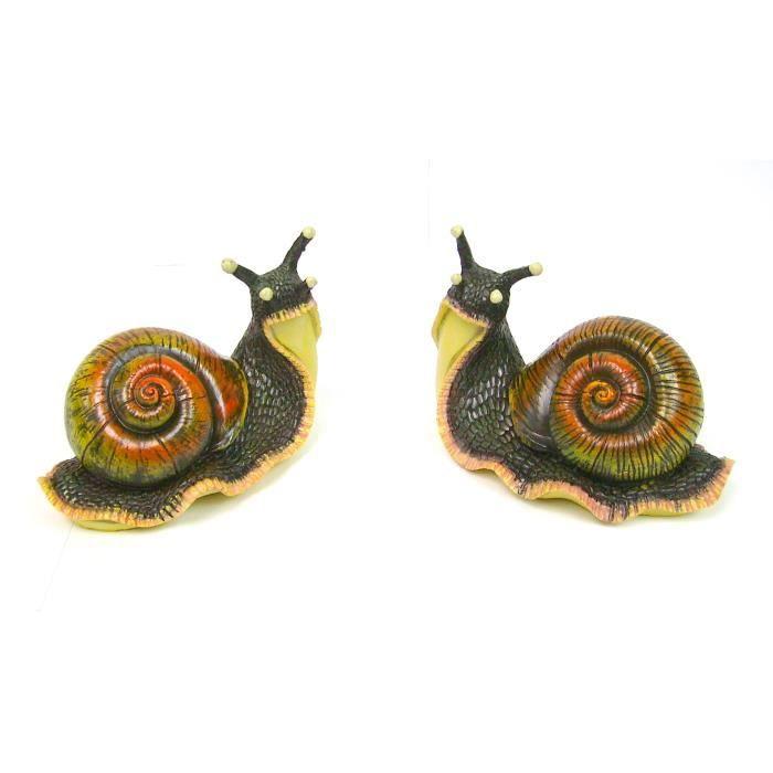Lot 2 escargots en r sine int rieur ext rieur achat for Decoration escargot exterieur