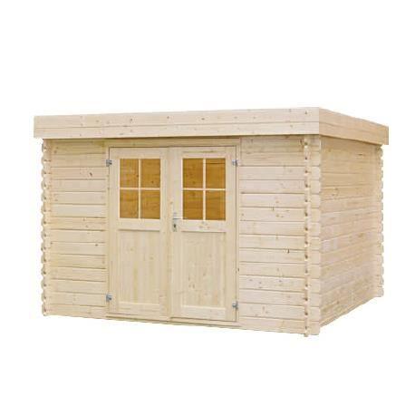 Abris de jardin toit plat en bois 28mm l 312 x achat - Abri jardin bois 28mm ...