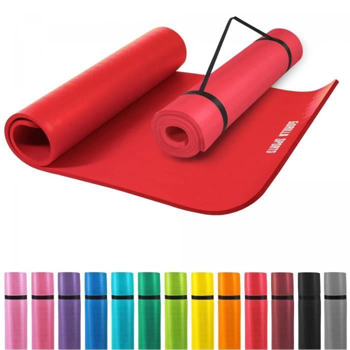 tapis en mousse pour le sport domicile rouge prix pas cher soldes d hiver d s le 11. Black Bedroom Furniture Sets. Home Design Ideas