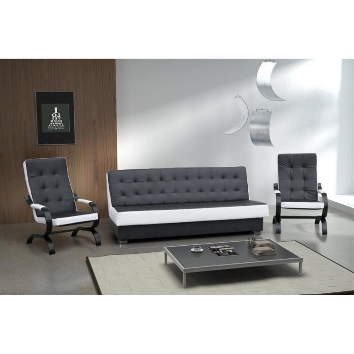 Justhome klaudia ensemble de meubles de salon 3r 1 1 for Ensemble de salon complet