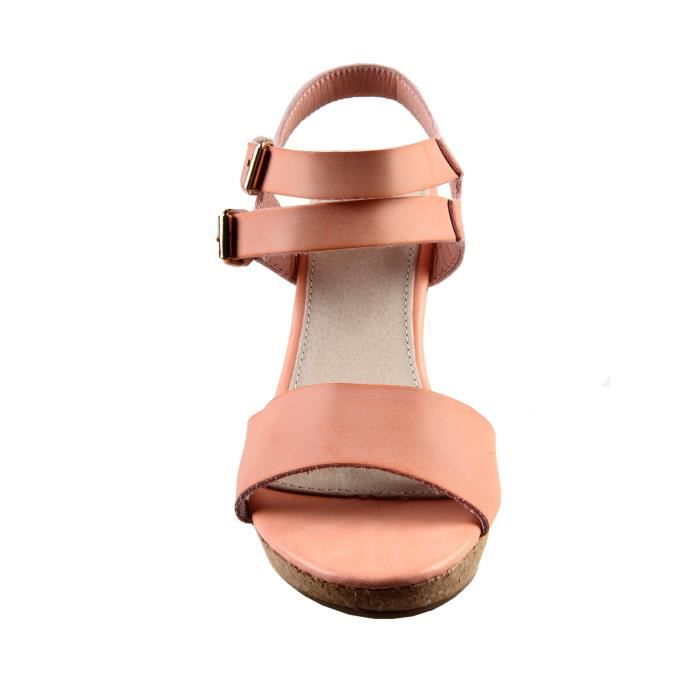 sandales compense rose poudre achat vente sandale nu pieds sandales compense rose poud. Black Bedroom Furniture Sets. Home Design Ideas