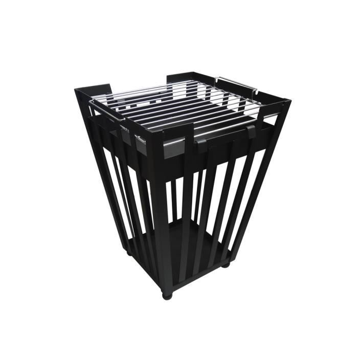 brasero ext rieur avec grille barbecue carr achat vente barbecue brasero ext rieur avec. Black Bedroom Furniture Sets. Home Design Ideas