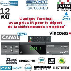 Pack servimat tsv 7600 hdu carte tntsat achat vente - Decodeur tnt 12 volts pour camping car ...