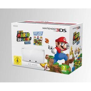 CONSOLE 3DS 3DS BLANC ARCTIQUE + SUPER MARIO 3D LAND