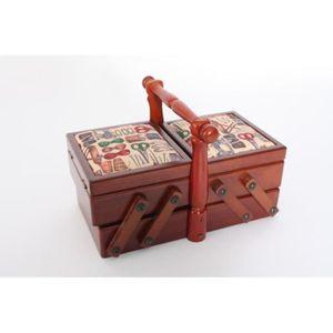 Travailleuse bois couture achat vente travailleuse for Boite couture en bois